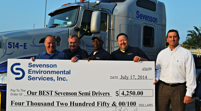 Sevenson drivers honored for safety behind the wheel