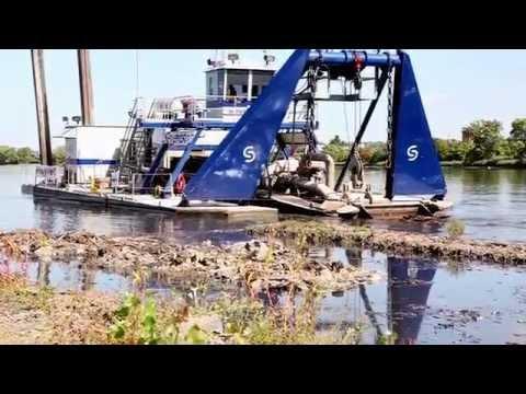 Onondaga Lake Cleanup – Sevenson's Cutterhead Dredge