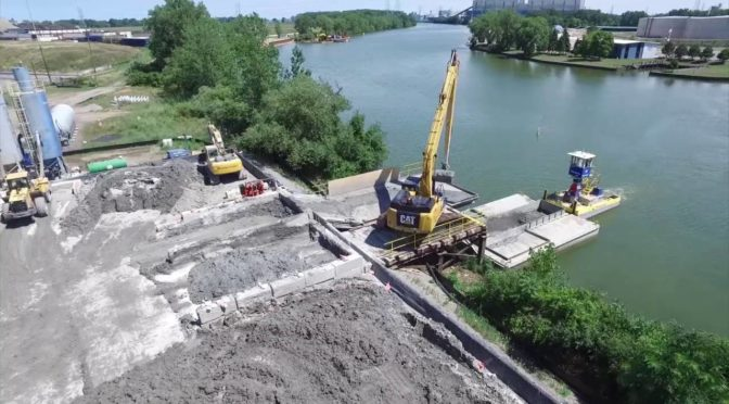 Drone Video of the River Raisin Dredging Project