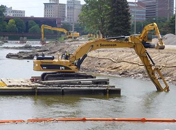 Flint River Sediment Remediation on Former MGP Site - Sevenson