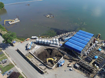Pomptom Lake Dredging and Dewatering Project by Sevenson Environmental Services