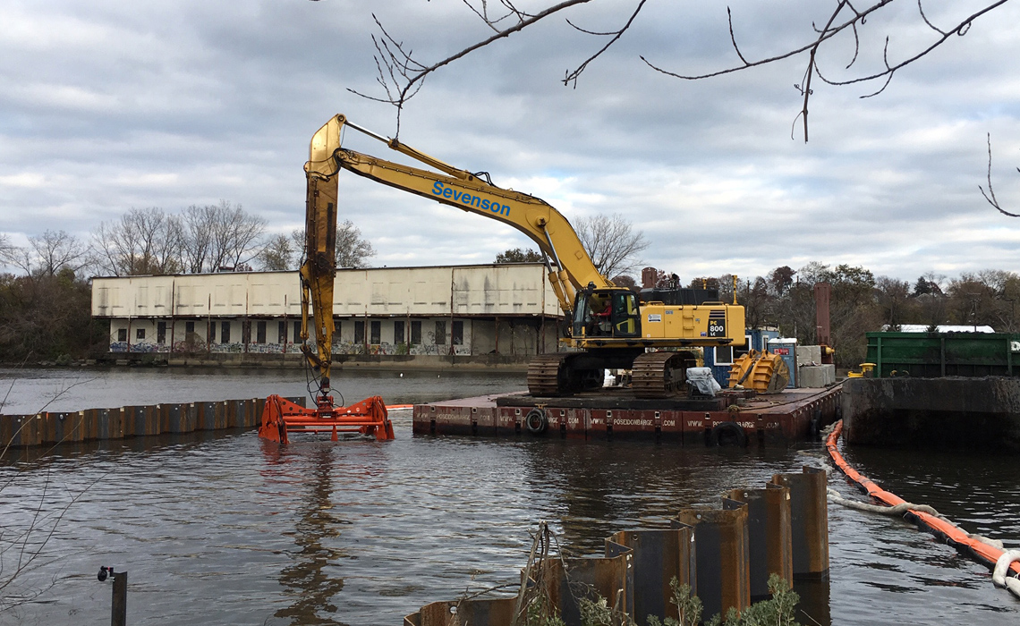 Former Hackensack Gas Works Site Area E Sediment Remediation Project