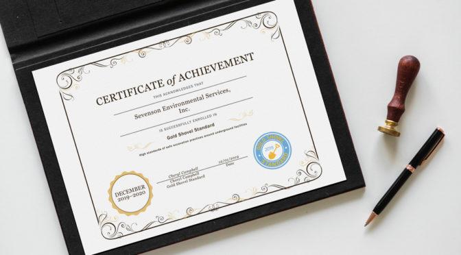 Sevenson Successfully Renews Gold Shovel Standard Certification